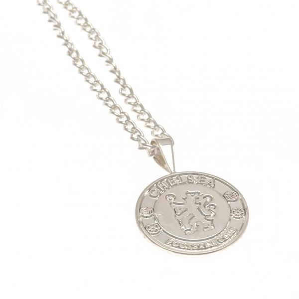 Chelsea F.C. Silver Plated Pendant & Chain XL