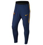 2015-2016 Barcelona Nike Strike Tech Pants with Pockets (Navy)