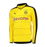 2015-2016 Borussia Dortmund Long Sleeve Home Puma Shirt (Kids)