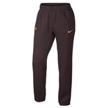 2015-2016 AS Roma Nike Core Fleece Cuff Pants (Mahogany)