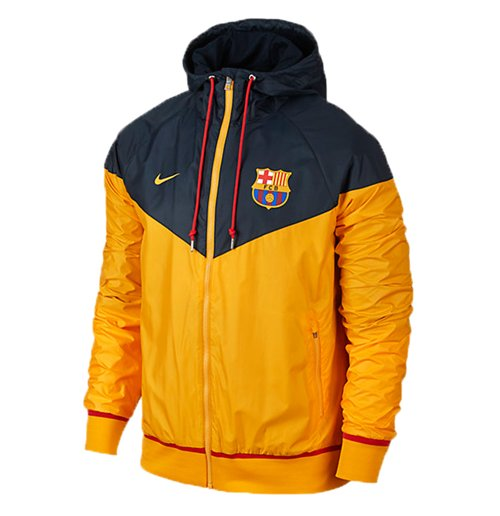 best service b3fab 76ad8 2015-2016 Barcelona Nike Authentic Windrunner Jacket (Gold)