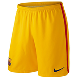 2015-2016 Barcelona Home Nike Goalkeeper Shorts (Gold) - Kids