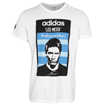 2015-2016 Lionel Messi Adidas T-Shirt (White)