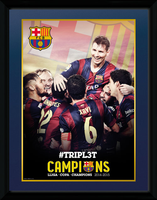 Barcelona La Liga 2015 Framed Collector Print