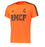 2015-2016 Real Madrid Adidas 3S PES Tee (Orange)