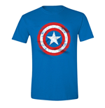 Captain America T-shirt - Cracked Shield Cobalt