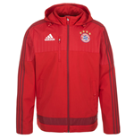2015-2016 Bayern Munich Adidas Travel Jacket (Red)