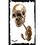 Clothes hook skull bronze-colored