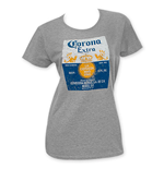 CORONA EXTRA Women's Grey T-Shirt