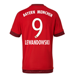 2015-16 Bayern Munich Home Shirt (Lewandowski 9) - Kids