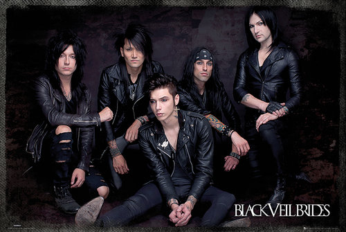 Black Veil Brides Group Sit Maxi Poster