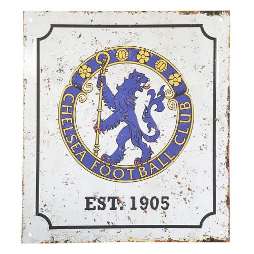 Chelsea F.C. Retro Logo Sign