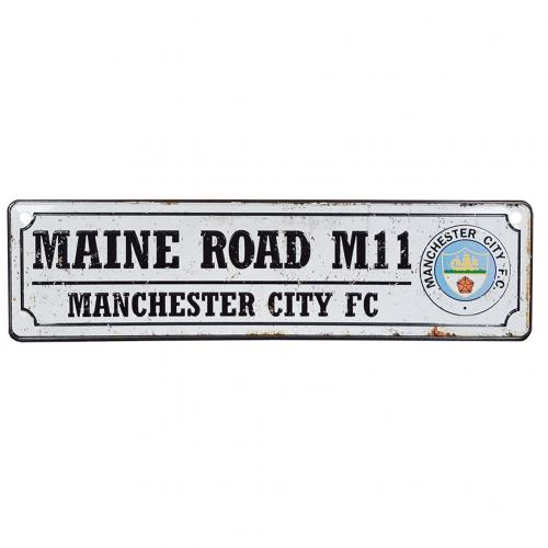 Manchester City F.C. Retro Window Sign