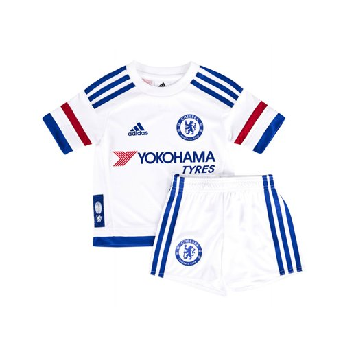 bf72fc79651 Buy Official 2015-2016 Chelsea Adidas Away Little Boys Mini Kit