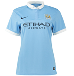 2015-2016 Man City Home Nike Ladies Shirt