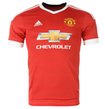 2015-2016 Man Utd Adidas Home Football Shirt