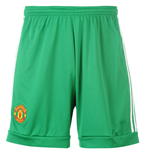2015-2016 Man Utd Adidas Home Goalkeeper Shorts (Green)