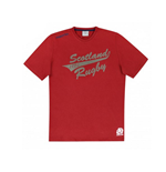 2015-2016 Scotland Macron Rugby Cotton Leisure Tee (Red) - Kids