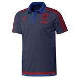 2015-2016 Man Utd Adidas Training Polo Shirt (Dark Blue)