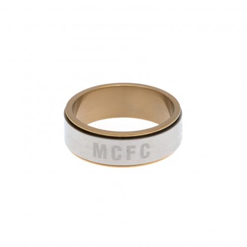 Manchester City F.C. Bi Colour Spinner Ring Small