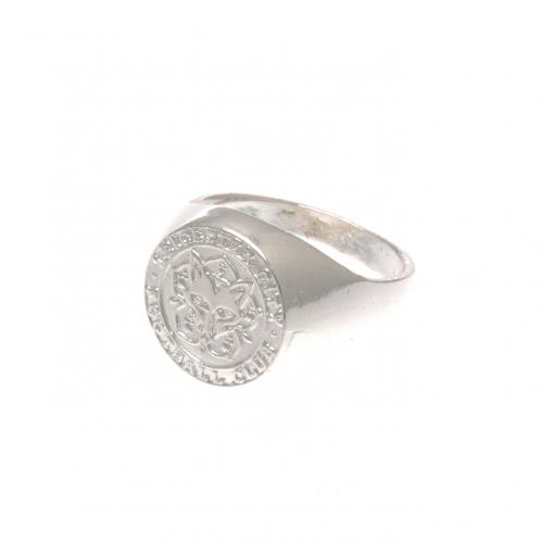 Leicester City F.C. Silver Plated Crest Ring Medium