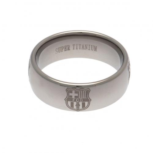 F.C. Barcelona Super Titanium Ring Small
