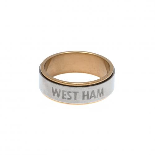 West Ham United F.C. Bi Colour Spinner Ring Large