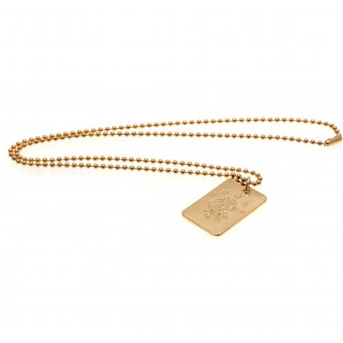 Rangers F.C. Gold Plated Dog Tag & Chain