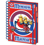 Minions Notebook A5 British Mod Red