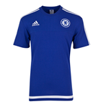 2015-2016 Chelsea Adidas Training Tee (Blue)