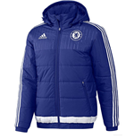 2015-2016 Chelsea Adidas Padded Jacket (Blue)