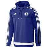 2015-2016 Chelsea Adidas Hooded Sweat Top (Blue)