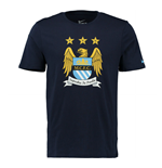 2015-2016 Man City Nike Core Crest Tee (Obsidian)