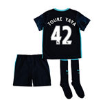 2015-2016 Man City Away Little Boys Mini Kit (Toure Yaya 42)