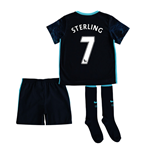 2015-2016 Man City Away Little Boys Mini Kit (Sterling 7)