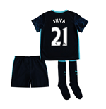 2015-2016 Man City Away Little Boys Mini Kit (Silva 21)