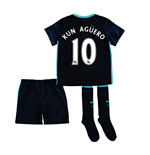 2015-2016 Man City Away Little Boys Mini Kit (Kun Aguero)
