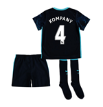2015-2016 Man City Away Little Boys Mini Kit (Kompany 4)