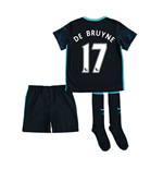 2015-2016 Man City Away Little Boys Mini Kit (De Bruyne 17)