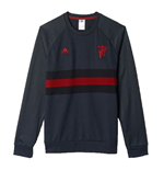 2015-2016 Man Utd Adidas SF Sweat Top (Dark Grey)