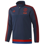 2015-2016 Man Utd Adidas Fleece (Dark Blue)