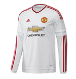 2015-2016 Man Utd Adidas Away Long Sleeve Shirt (Kids)