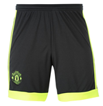 2015-2016 Man Utd Adidas Away Goalkeeper Shorts (Black)