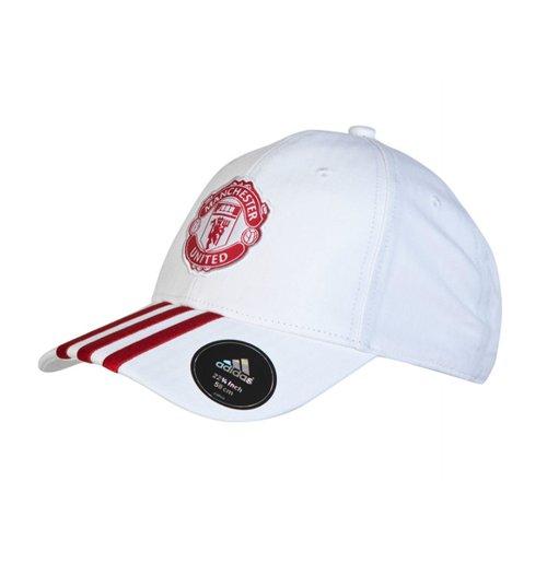 Buy Official 2015-2016 Man Utd Adidas 3S Baseball Cap (White) a26d4406e0ad