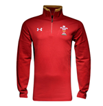 2015-2016 Wales Rugby WRU Quarter Zip Top (Red)