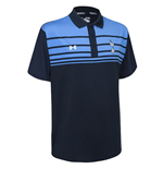 2015-2016 Tottenham Striped Polo Shirt (Navy)