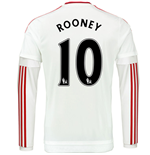 2015-2016 Man Utd Long Sleeve Away Shirt (Rooney 10) - Kids