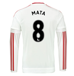 2015-2016 Man Utd Long Sleeve Away Shirt (Mata 8)