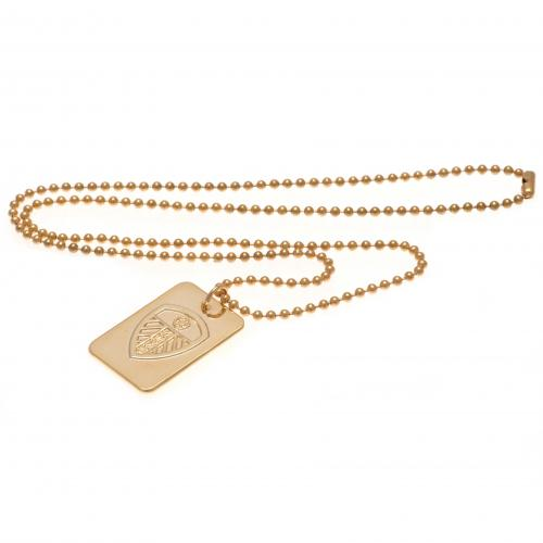 Leeds United F.C. Gold Plated Dog Tag & Chain