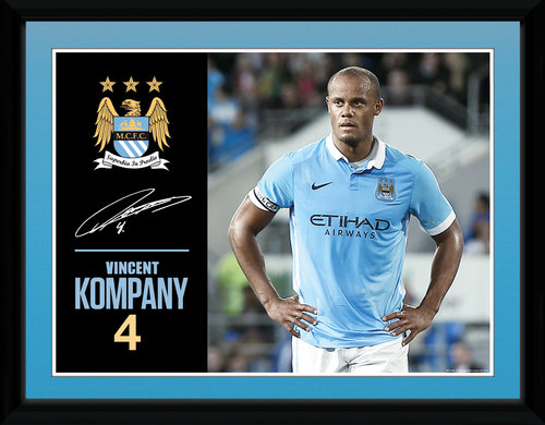 Manchester City Kompany 15/16 Framed Collector Print